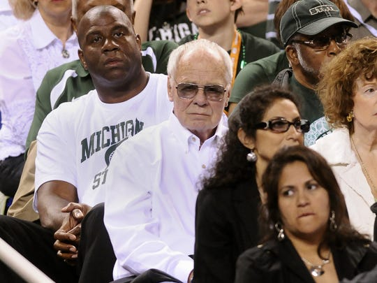 """MSU fans including Earvin """"Magic"""" Johnson and former"""