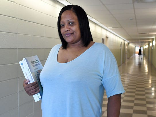 Hope Wheaton, 43, recently went back to school at Jones County Junior College, earned her high school equivalency diploma and in August beganpursuing an associate's degree in business office technology.