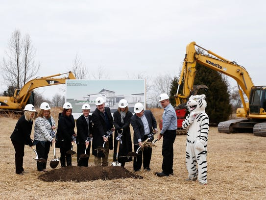 Willard Public School District officials break ground