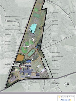 Anderson School District 4 is continually updating the master plan for the Pendleton High School property and the 85-acres behind the school on Boscobel Road. Currently, the proposed plan includes new athletic fields and a possible footprint of a new school, if the district approves it.