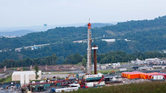 A natural gas well in Morgantown, W.Va., on Aug. 6, 2011.