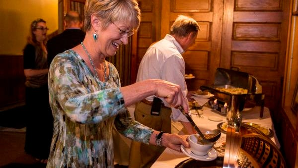 Amy Quinn ladles turtle soup into a cup during the Homegrown History series hosted by the Daily Advertiser and the Lafayette Farmers and Artisans Market at the Horse Farm at Cafe Vermilionville in Lafayette, La., May 12, 2015.
