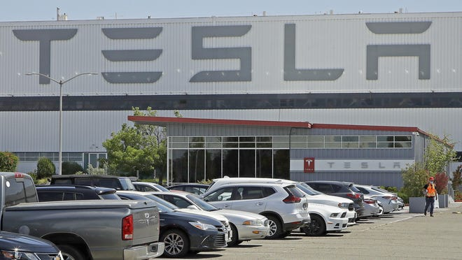 Tesla's factory in Fremont, Calif., was forced to close for almost two months this spring amid the coronavirus pandemic. Still, the company has been having a strong year, and it recently reported a 44% increase in quarterly sales of its electric vehicles.