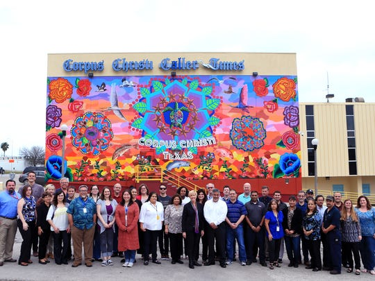 Corpus Christi Caller-Times staff gather for a group