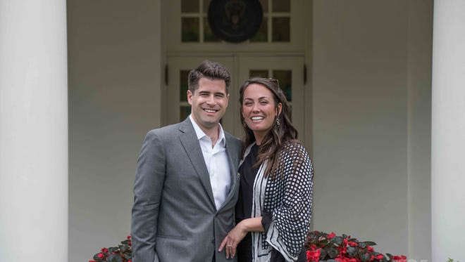 Bridget Haley of North Plainfield got engaged on May 20 to her boyfriend of five years, Justin Sykes of North Carolina, on the North Lawn of the White House. Sykes had planned the elaborate proposal for months with the help of family and friends who work in the White House.