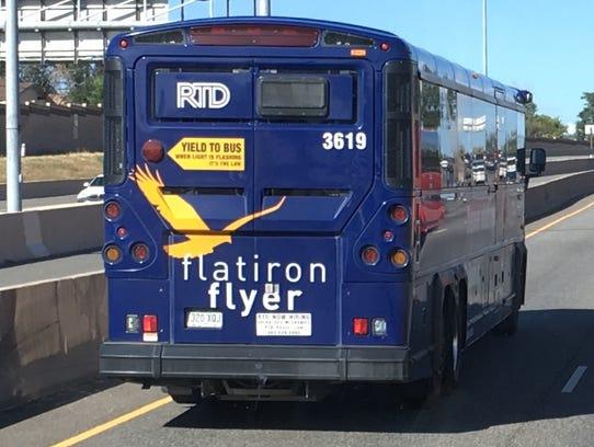 The Flatiron Flyer is Denver's bus rapid transit (BRT)