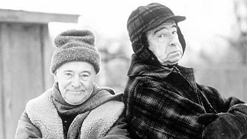 """Jack Lemmon and Walter Matthau in a scene from the movie """"Grumpy Old Men."""""""