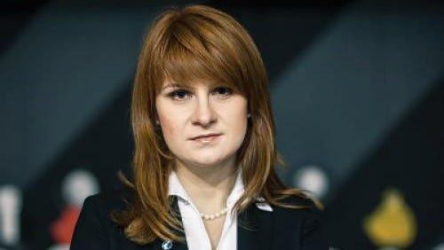An undated handout picture made available by the Press Service of the Civic Chamber of the Russian Federation shows Maria Butina, 'The Right to Bear Weapons' Public Organization's board chairperson.