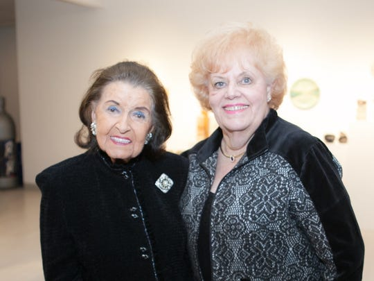 Maggie Allesee (left)  was pleased to give background