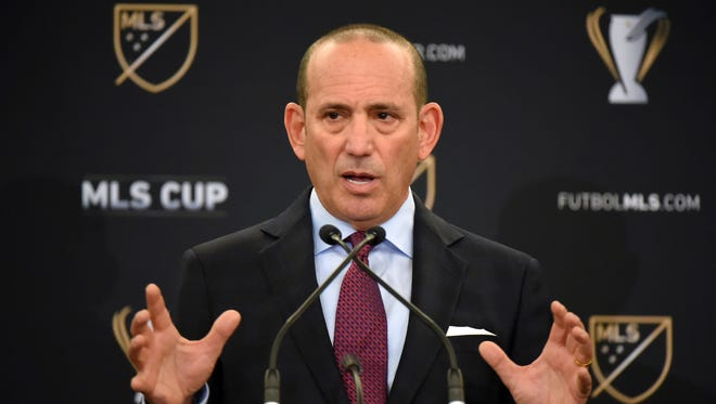 Dec 9, 2016; Toronto, Ontario, Canada; MLS commissioner Don Garber speaks to the media during a State of the League Address at InterContinental Hotel.