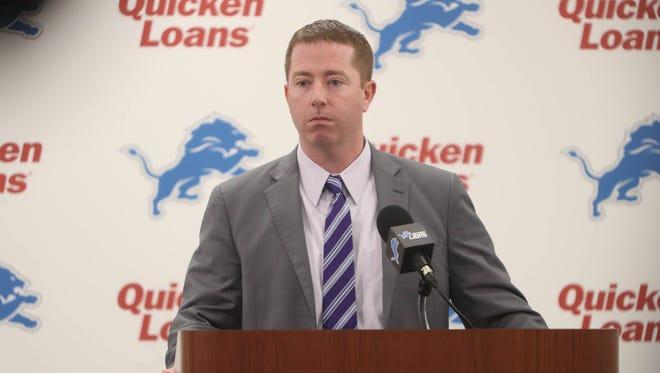 Lions general manager Bob Quinn.