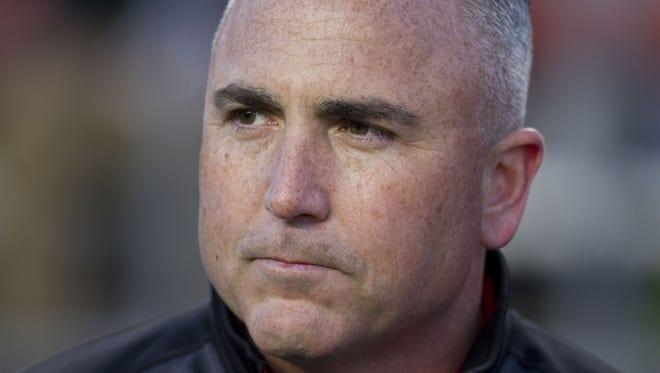Rutgers football head coach Kyle Flood.