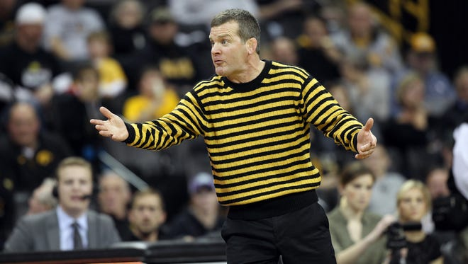 Iowa head wrestling coach Tom Brands and the Hawkeyes will wrestle against Purdue on Friday and face Nebraska on Sunday on the road.