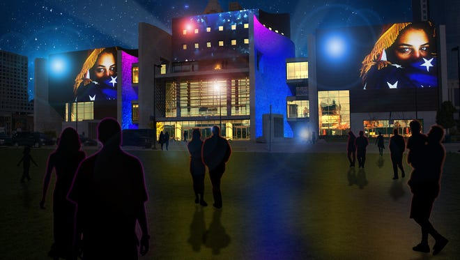 Brave Berlin will transform National Underground Railroad Freedom Center during Blink. This is a rendering of what to expect.
