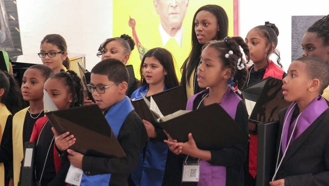 The Detroit Children's Choir performing on Noel Night last year at the Scarab Club.  The group is scheduled to perform again this year.