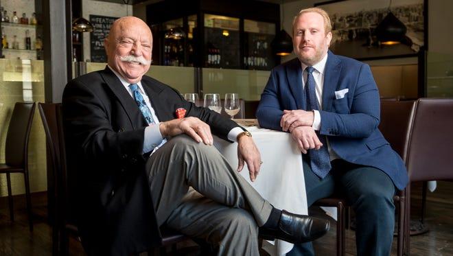 Phoenicia restaurant founder Sameer Eid, left, with his son and day-to-day operator Samy Eid inside the longtime Birmingham Lebanese restaurant.