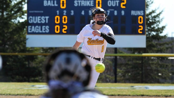 Hartland freshman Rachel Everett beat two top-five softball teams in a four-day span, allowing only one run.