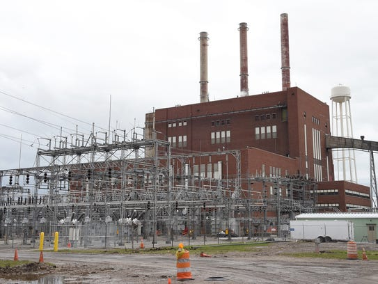 The exterior of Consumers Energy's J.R. Whiting Generating