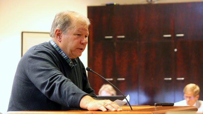 Interim City Manager Dr. George Straface apologizes during the special meeting on Tuesday night for not clarifying the commission's direction on the RFP.