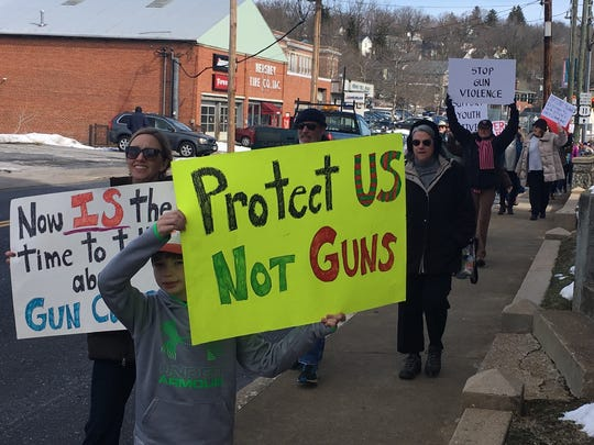 Marchers took to the streets Saturday in downtown Staunton