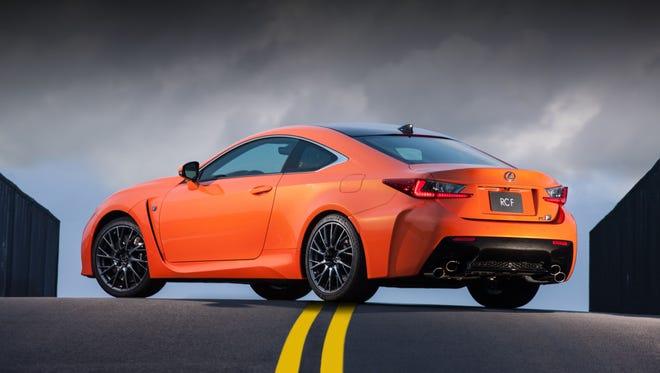 The 2015 Lexus RCF.