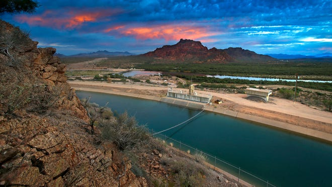 The Central Arizona Project and Salt River Project Interconnect along with the Salt River and the Verde River.