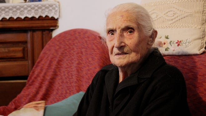 Zelinda Paglieno, 102, says the secret to long life is a half glass of wine a day.