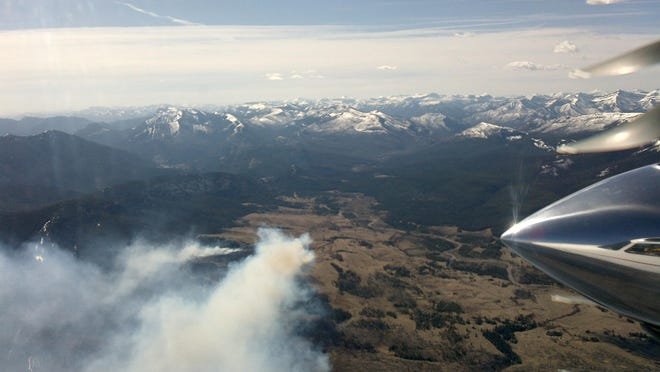 The Elk Hill fire in the Bob Marshall Wilderness Area is more than 1,000 acres as of Monday.