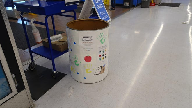 The Stuff the Bus collection barrel at the Walmart on the Strip in Jackson Township was in the store for Aug, 7, 8 and 9 so that people could donate much needed school supplies to the special three day collection event hosted by The Salvation Army.