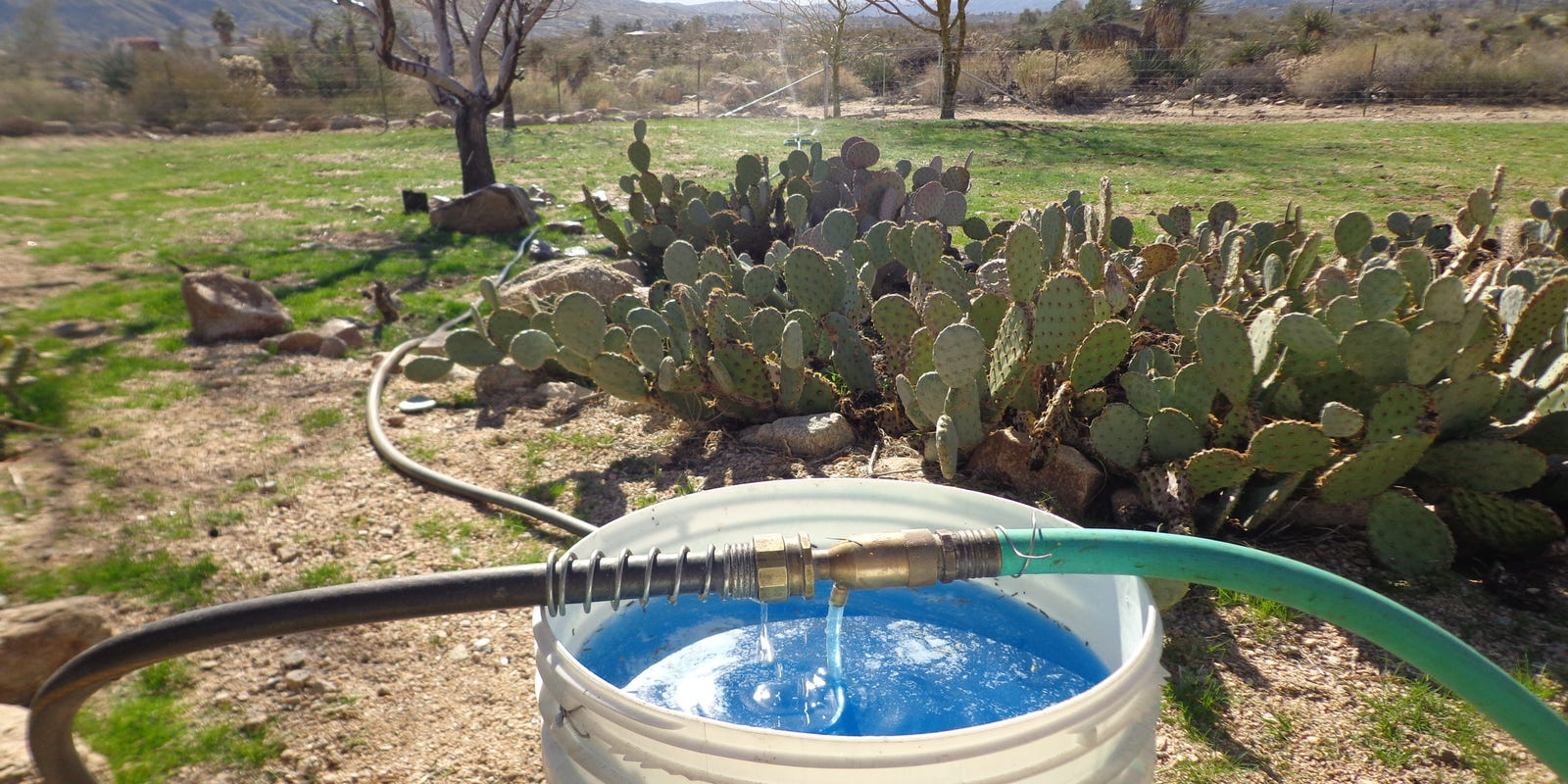 Improving your garden soil through a fertilizer injector
