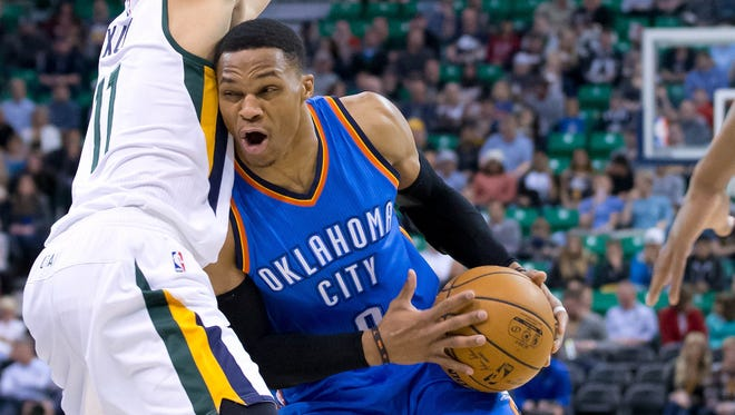 Coincidence? Oklahoma City is 9-3 when Russell Westbrook has a triple-double and 6-8 when he doesn't.