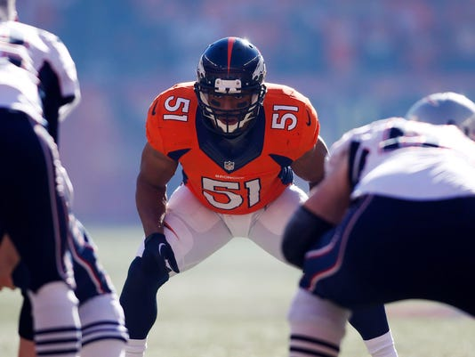 bacd76047 Broncos' Paris Lenon takes the long road — from XFL to Super Bowl
