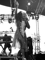Singer SZA performs onstage during day 2 of the 2016 Coachella Valley Music & Arts Festival on April 23, 2016 in Indio, CA.