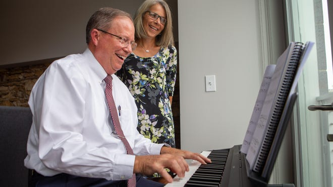 Robert Kenagy's mother was a music educator and he has started to play the piano once more, as he did Wednesday with his wife, Tammy, in their S. Kansas Avenue loft. The Kenagys are this year's recipients of the Topeka Public Schools Foundation 2020 Patron Award.