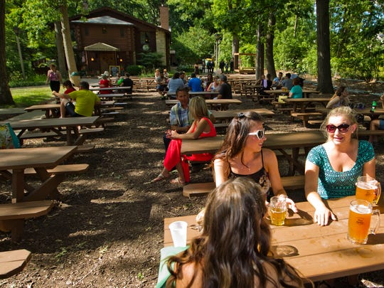 Hubbard Park Beer Garden is tucked along the Milwaukee River in Shorewood.