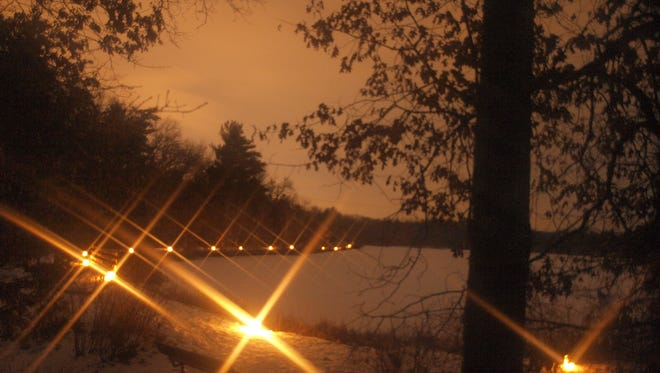A candlelight hike was held at Hartman Creek State Park in January 2015.
