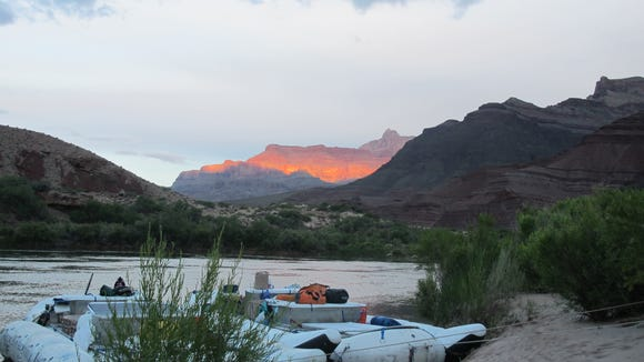 On the Colorado River in the Grand Canyon