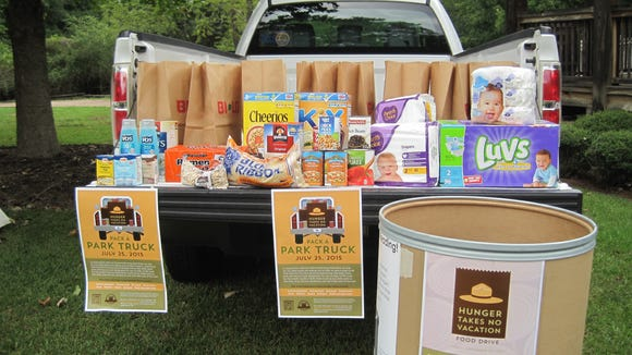 South Carolina state parks will hold a pack a park truck food drive on Saturday, July 25.