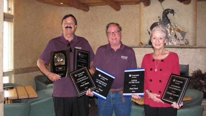 Pictured, from left; Gary Lynch, Paul Park and Cindy Lynch.