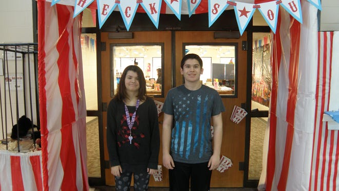 Madisen Mattle and Josh Lewbart, eighth-graders at Delsea Regional Middle School, each read almost 900,000 words during goal period No. 2 of Popcorn Palooza.