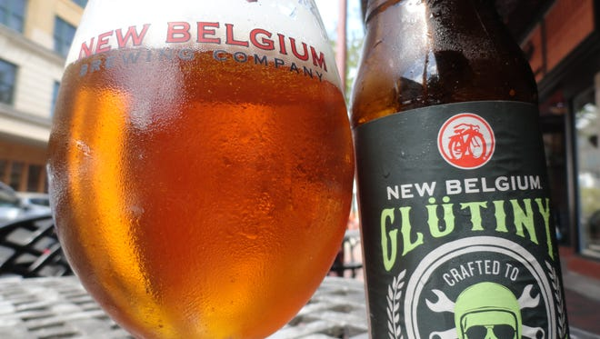 New Belgium Brewing's Glütiny Pale Ale.