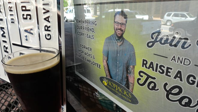Trimtab Brewing comes to Pensacola with a launch party at Hopjacks featuring their Pillar to Post brown rye ale and a tribute to Cory Seals, a former employee of Hopjacks and Trimtab.