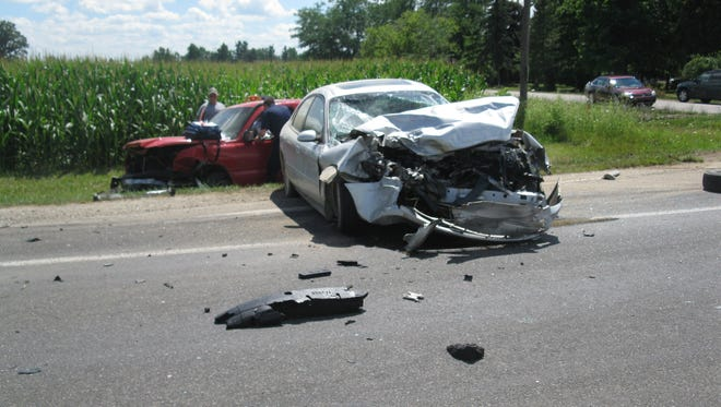 Drivers transported to hospital after crash in Moore Township