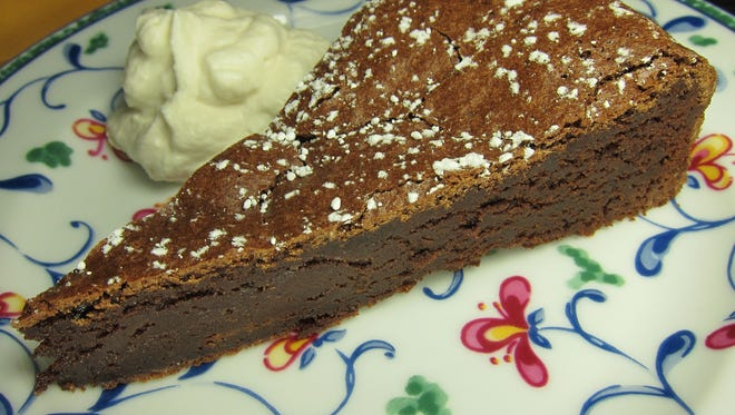 The creamy, dense, rich, delicious flavor of the chocolate in this cake is heavenly.