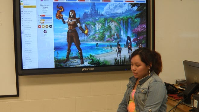 Maricarmen Castro made a request to sing a song in Spanish for her class at Delsea Regional Middle School due to a random event in Classcraft.