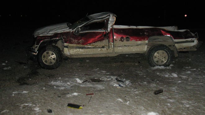 Two men were injured in an early morning crash in Sanilac County.