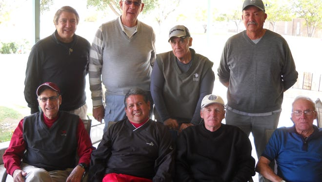 Old Timers golf group December winners.