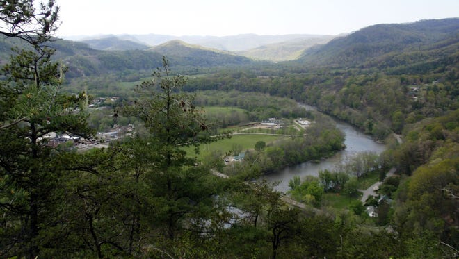 The Hot Springs Resort & Spa rests along the banks of the French Broad River in Hot Springs.