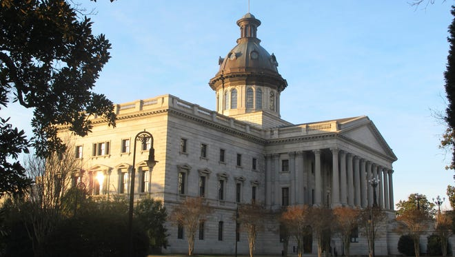 The South Carolina Statehouse in Columbia, S.C., is seen on Jan. 25, 2014.