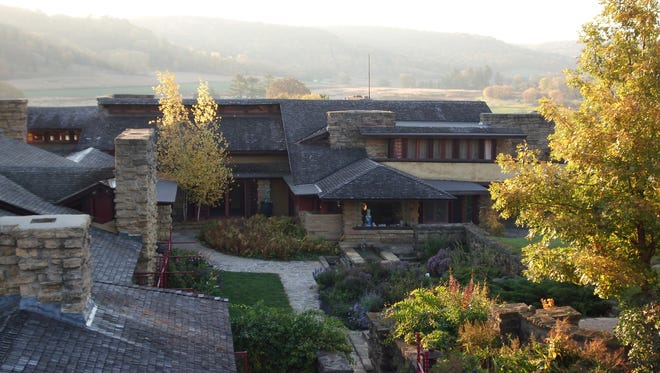 Taliesin, Spring Green, WI.  Taliesin was Wright's primary residence for 48 years from 1911 to 1959.